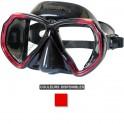 Masque BEUCHAT X-CONTACT 2 jupe noire rouge