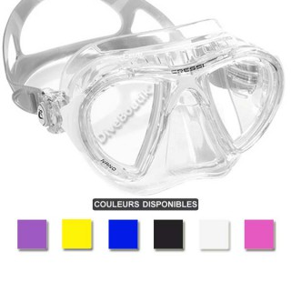 Masque CRESSI NANO CRYSTAL jupe transparente