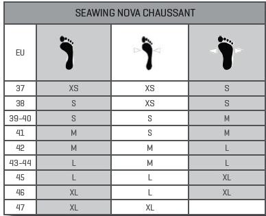 Guide des tailles pour les palmes SCUBAPRO SEAWING NOVA 2 chaussantes