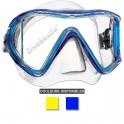 Masque MARES i3 jupe transparente bleu