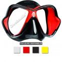 Masque MARES X-VISION ULTRA LiquidSkin jupe noire rouge