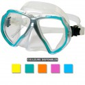 Masque BEUCHAT X-CONTACT 2 jupe transparente turquoise