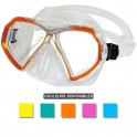 Masque BEUCHAT X-CONTACT 2 MINI jupe transparente orange