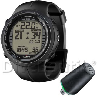 Ordinateur SUUNTO DX NOIR ELASTOMERE + interface PC USB