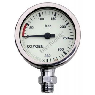 Manomètre chromé DIRZONE NITROX / OXYGENE