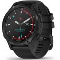 Ordinateur GARMIN DESCENT Mk2S Carbon Grey DLC avec son bracelet en silicone noir